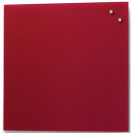 Glassboard Rood 35x35cm