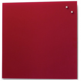 Glassboard Rood 45x45cm