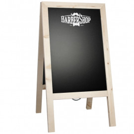 Krijtstoepbord Steigerhout Blank 46x80cm
