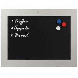 Magnetisch Krijtbord Steigerhout Wit 50x70cm