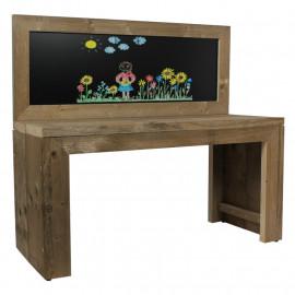 Speeltafel Krijtbord voor kinderen Steigerhout