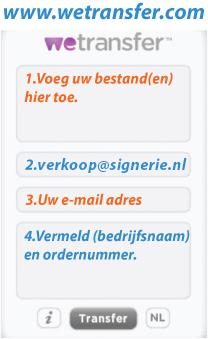 Wetransfer upload signerie