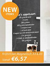 Nieuwe magnetische krijtstickers A4 & A3