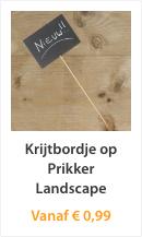 Krijtbordje op Prikker Landscape