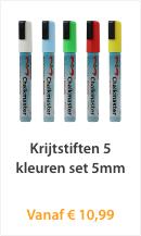 Krijtstiften 5 kleuren set 5mm